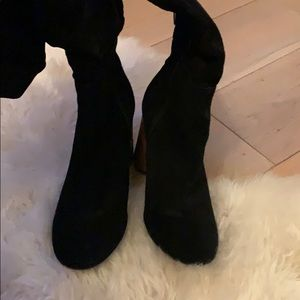 Sole Society Shoes - Black suede boots
